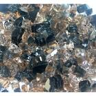 "Dark Choc 1/4"" 1-120 lbs Fireglass Fire Glass Fire Pit Fireplace Crystals Logs"