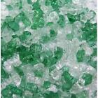 "Green Tea 1/4"" 1-120 lbs Fireglass Fire Glass Fire Pit Fireplace Crystals Logs"