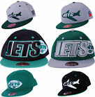 New York Jets NFL Mitchell & Ness Throwback Fitted & Flex Hats | Green Flat Brim