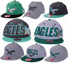 Philadelphia Eagles NFL Mitchell & Ness Throwback Fitted Hats   Flat Brim