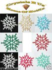 FABRIC FANCY SNOWFLAKE FLOWER iron-on CHRISTMAS DIY CLOTHE TSHIRT TRANSFER PATCH