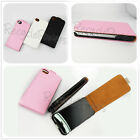 PU Leather Vertical Flip Wallet Case Cover For Apple iphone 4 4S Pink Black lot1
