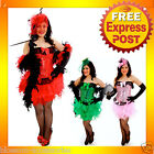 CC43 Burlesque Can Can Moulin Rouge Hens Night Party Costume Corset + Skirt