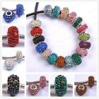 Wholesale CZ Crystal Rhinestone European Spacer Loose Beads Fit Charms Bracelets