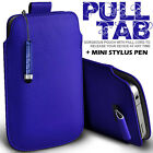 LEATHER PULL TAB SKIN CASE COVER POUCH + MINI STYLUS FOR VARIOUS HTC PHONE