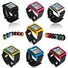 New Deluxe Multi-Touch Aluminium Bracelet Watch Band for Apple iPod nano 6th Gen
