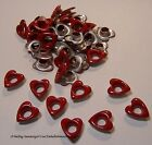 50 Aluminum Eyelets Valentine Hearts & Lips 4 Scrapbooks, Jewelry, Collage Art