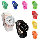 Stylish Jelly Soft Silicone Strap Casual Quartz Wrist Watch Men Women Unisex