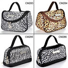 Fraulein3°8 Leopard Zebra Cosmetic Make up Hand Bags Package Case Pouch