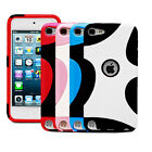 Fosmon Splash Hybrid PC+TPU Protector Case Cover for Apple iPod Touch 5th Gen 5G