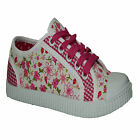 GIRLS KIDS FLAT PUMPS SCHOOL SHOES CANVAS TRAINERS INFANTS CASUAL BOOTS SIZE 8-2