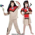 CHILD'S RED INDIAN COSTUME BOOK WEEK FANCY DRESS NATIVE SQAW WILD WEST SCHOOL