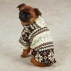 Casual Canine Snowdrift Cuddler Pullover Fleece Hoodie Snowflake Pattern Brown