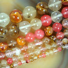 "Colorful Volcano Cherry Quartz Round Beads 15.5"" 4,6,8,10,12,14,16mm Pick Size"