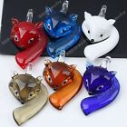 Smart Clever Fox Lampwork Glass Pendant Bead Animal Murano For SP Necklace Cute