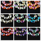 10 Faceted Glass Crystal Teardrop Bracelet Finding Spacer Bead 18mm Colorized
