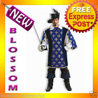 C662 Musketeer Designer Collection Halloween Fancy Dress Adult Costume