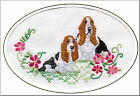 Basset Hound Birthday Card Embroidered by Dogmania