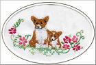 Pembroke Corgi Birthday Card Embroidered by Dogmania