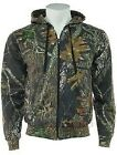 Mens Camouflage Camo Tree Print Lined Zip Through Hoodie Top Jacket New With Tag