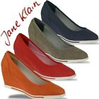 IDANA Jane Klain Sommer Pumps Wedges 4 Farben Gr.36-42