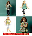 SEWING PATTERN! MAKE CHILD~GIRL TOP~TUNIC~DRESS~LEGGINGS! SIZE 2~5 OR 6~8