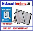 A3 - 40 POCKET DISPLAY BOOKS (80 PAGES TO VIEW) - SINGLE BOOKS TO BULK PACKS