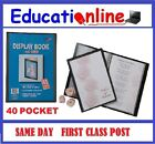 A4 - 40 POCKET DISPLAY BOOKS (80 PAGES TO VIEW)- SINGLE BOOKS TO BULK PACKS