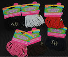 Set of 20 Thick Elastic hair bands red blue pink black white brown FREE POSTAGE