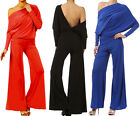 MULTI WAY Reversible PLUNGING Convertible JUMPSUIT Off Shoulder S M L 1X 2X 3X