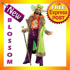 C21 Mens Neon Green Biggest Daddy Pimp Halloween Adult Costume