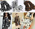 Fashion ! Women Girls Big Skull Skeleton Wrap Shawl Stole Long  Scarf