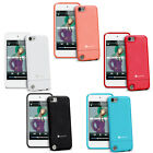 Pink Blue Red Black White Hard Rubber Case Cover for Apple iPod Touch 5th Gen 5G