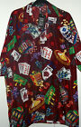 NWT LAS VEGAS CASINO  HAWAIIAN SHIRT burgandy  2x or 3x  POKER SLOTS CRAPS  21