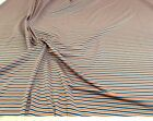 Discount Fabric Polyester Lycra 4 way stretch Multi Stripe 9LY
