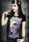 Restyle Dracula Vampire Moon Purple Gothic Horror Black Short Sleeved Tshirt Top