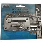 CHROME DOOR CHAIN & DEADBOLT HEAVY DUTY SECURITY HOME