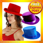 AS83 Mens Womens Velvet Formal Stage Burlesque Top Hat Costume Accessory