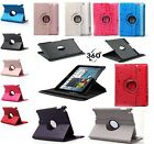 360 Rotating PU Leather Case For iPad 2 3 4 Magnetic Smart Cover Stand 7 Colors