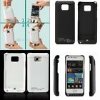 2200mAh External Backup Battery Charger Case Cover For Samsung Galaxy S 2 i9100