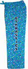 NEW!!! Turquoise Star Glitter Gymnastics Flannel Pants by Snowflake Designs