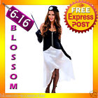 J63 1920s Charleston Gangster Flapper 20s Gatsby Fancy Dress Costume + Necklace