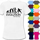 Evolution Of A Table Tennis Player Womens Ladies T-Shirt