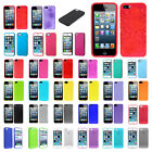 Frost TPU Rubber Soft Case For iPhone 5 5G White Blue Pink Smoke Purple Green