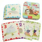 Childrens Farmyard or Animals Trump Cards in Tin Case Educational Toy