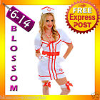 J46 Ladies Nurse Uniform Doctor Medical Fancy Dress Up Hens Party Costume Outfit