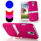NEW CHROME STAND CASE COVER FOR SAMSUNG GALAXY S4 I9500 FREE SCREEN PROTECTOR