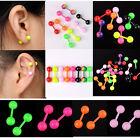 Stainless Steel Flare Bar Barbell Helix Cartilage Tragus Ring Ear Stud Earlet