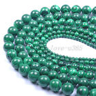 "Wholesale 15.5"" 4MM 6MM 8MM 10MM 12MM Malachite Gemstone Round Loose Spacer Bead"