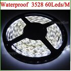 12V 24W 300LEDs/5M 3528 Cool White IP65 Waterproof Strips Lighting Flexibility